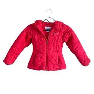 Columbia Girls Pink Puffer Winter Jacket XSmall
